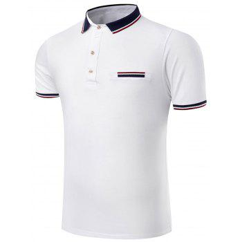 Slim Fit Stripe Trim Polo Shirt