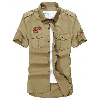 Short Sleeve Slim Fit Cargo Shirt