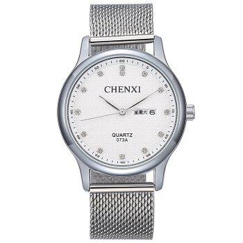 CHENXI Mesh Steel Band Date Watch