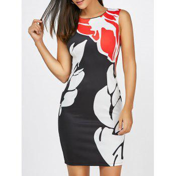 Color Block Sleeveless Pencil Dress