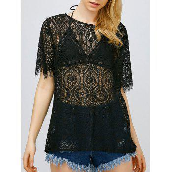 Buy See Lace Top BLACK