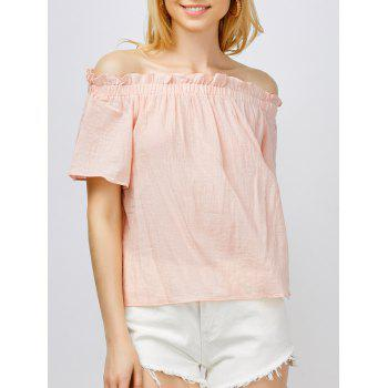 Short Sleeves Off The Shoulder Top