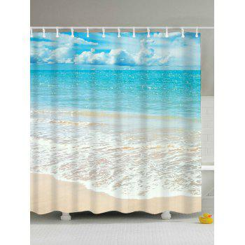 Beach Scenery Anti-bacteria Mouldproof Shower Curtain