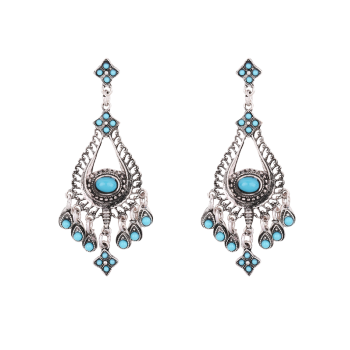 Teardrop Embellished Chandelier Earrings