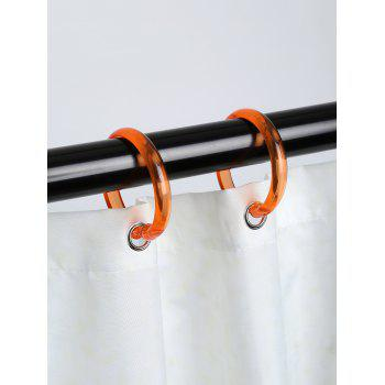 12 Pcs Plastic Round Shower Curtain Hooks - ORANGE