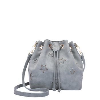 Star Cut Out Eyelets Bucket Bag