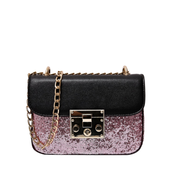 Sequins Insert Mini Cross Body Bag