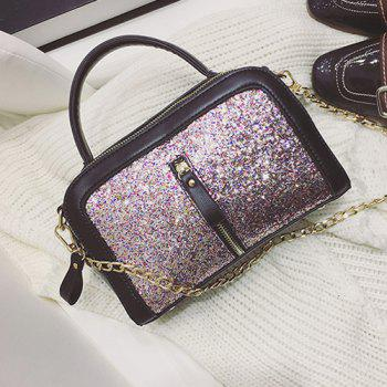 Sequin Insert Handbag with Chains