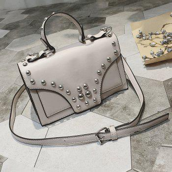 Rivet Faux Leather Handbag
