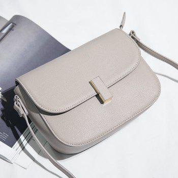Faux Leather Flap Cross Body Bag