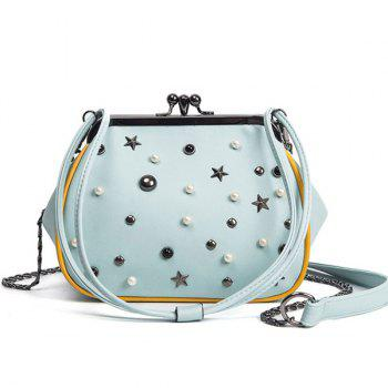 Beaded Star Rivet Cross Body Bag
