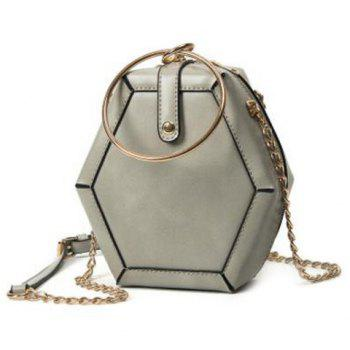 Hexagon Shaped Metal Ring Crossbody Bag