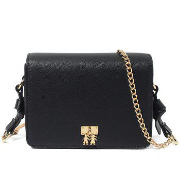 Chains and Metal Detail Crossbody Bag