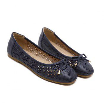 Hollow Out Bowknot Flat Shoes