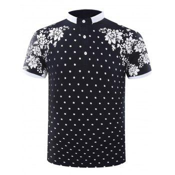 Flower Short Sleeve Polo T-Shirt