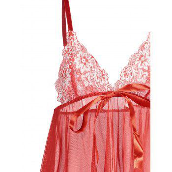 Lace Insert Cami See Thru Babydoll - M M