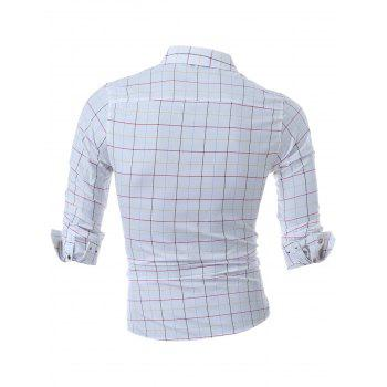 Long Sleeve Grid Shirt - RED RED