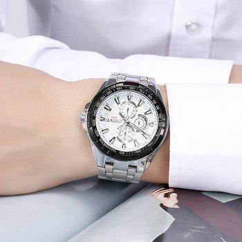 CHENXI Steel Strap Tachymeter Number Watch - WHITE
