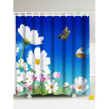 Pastoral Floral Eco-Friendly Bathroom Shower Curtain