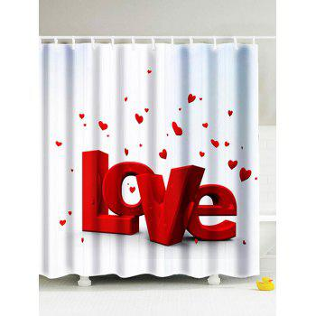 Love Printed Eco-Friendly Polyester Shower Curtain