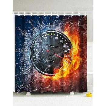 3D Burning Watch Fabric Shower Curtain