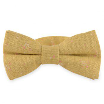Tiny Floral Cotton and Linen Bow Tie