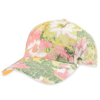 Flowering Shrub Print Baseball Hat