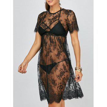 Lace See Through Cover Up Dress for Beach