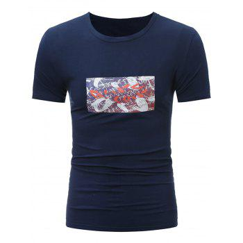 Stretchy Crew Neck Graphic T-Shirt