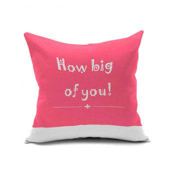 Letter Word Printing Soft Plush Square Pillow Case