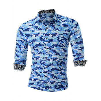 Long Sleeve Button Up Camo Shirt