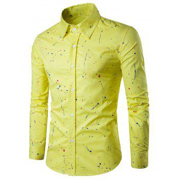 Long Sleeve Splatter Paint Shirt