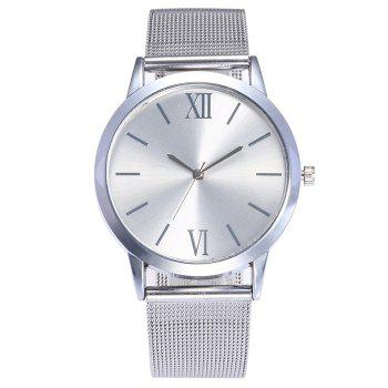 Alloy Mesh Strap Analog Watch
