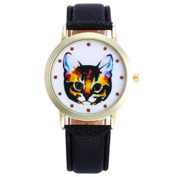 Cartoon Cat Pattern Analog Watch