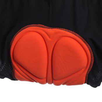 Breathable 3D Sponge Padded Cycling Shorts - BLACK BLACK