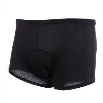 Breathable 3D Sponge Padded Cycling Shorts - BLACK 2XL
