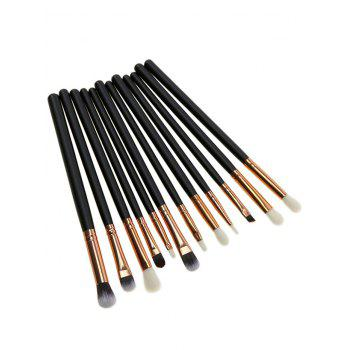 12 Pcs Makeup Eye Brush Set - BLACK