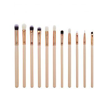 12 Pcs Makeup Eye Brush Set - PINK