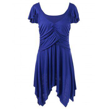Plus Size Ruched Tunic Top