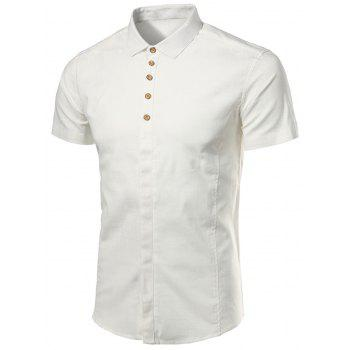 Short Sleeve Multi Buttons Shirt