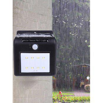 Water Resistant 8 LEDs Solar Powered Motion Sensor Solar Wall Lights