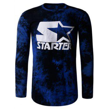 Tie Dye Star Print Long Sleeve T-Shirt