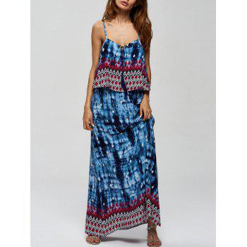 Bohemian Spaghetti Strap Maxi Dress