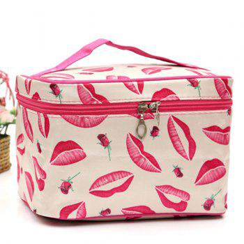 Print Satin Cosmetic Bag