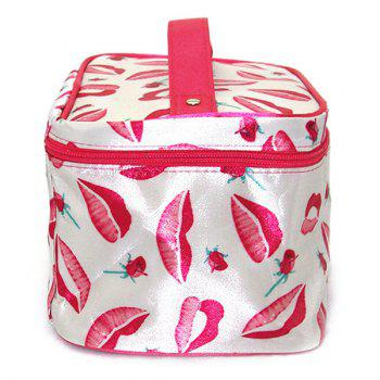 Imprimer Satin Cosmetic Bag - Blanc