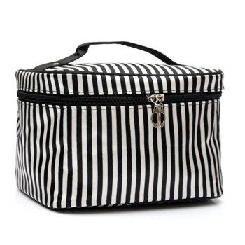 Print Satin Cosmetic Bag - STRIPE STRIPE