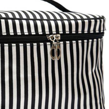 Print Satin Cosmetic Bag -  STRIPE