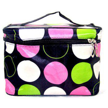 Print Satin Cosmetic Bag - MULTI multicolor