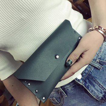 Flap Textured Clutch Wallet
