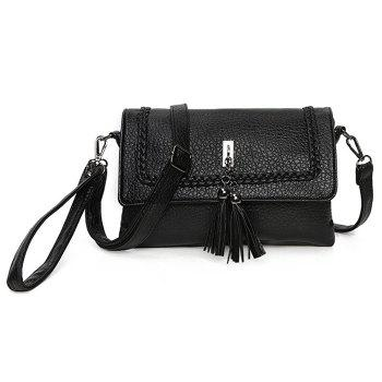 Braided Tassel Crossbody Bag